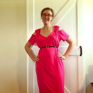Dresses & Skirts - Pink Summer Dress with Shoulder Cut Outs Size 3X